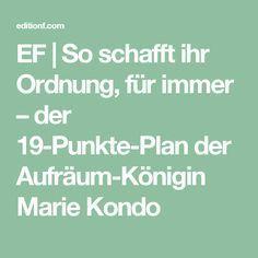 EF | So schafft ihr Ordnung, für immer – der 19-Punkte-Plan der Aufräum-Königin Marie Kondo