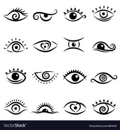Eye design vector image on VectorStock Osiris Tattoo, Caduceus Tattoo, Eye Stencil, Evil Eye Art, Eye Illustration, Small Tats, Eye Symbol, Eye Logo, Simplistic Tattoos