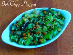 Cabbage Curry, Bok Choy Recipes, Vegetarian Side Dishes, Easy Indian Recipes, Curry Leaves, Indian Style, Stir Fry, Rice, Vegetables