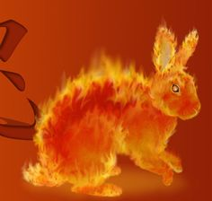 fire rabbit  (is Jeff a fire rabbit? 'cause this would be cool.)