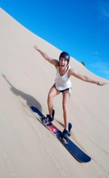 Sandboarding in Mossel Bay, South Africa with Sandboard the Dragon
