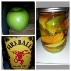 Apples & fireball... Soak for 6 hrs. Eat apples :)