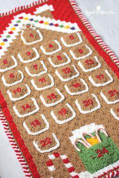 Crochet C2C Gingerbread House Advent Calendar - Free Pattern