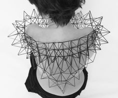 Geometric Jewellery with complex architectural design; conceptual jewellery // Dominique Thomas Vansteenberghe