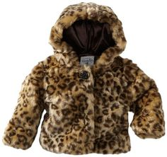 Quality  Mud Pie Baby-Girls Infant Leopard Faux Fur Coat, Multi Colored, 0-6 Months