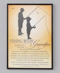 Black 'Fishing With Grandpa' Frame