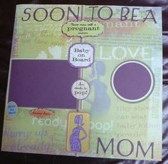 title page for pregnancy scrapbook - Google Search