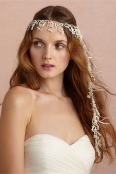 Night-Blooming Halo in The Bride Veils & Headpieces at BHLDN .by the time I get married my locs will be to my feet, so this will be perfect.but hope they make it in gold for the fall. Wedding Hats, Headpiece Wedding, Wedding Veils, Bridal Headpieces, Bridal Hair, Fascinators, Wedding Dresses, Wedding Accessories, Hair Accessories