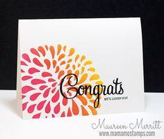 Mama Mo Stamps: Patina Note Card