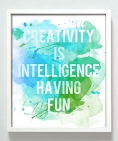 Look at this #zulilyfind! Blue & Green 'Creativity' Print by Gus & Lula #zulilyfinds