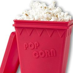 Microwave Popcorn Magic Household Popper with Silicone Without Oil Healthy Cooking Tools Air Popping Microwaveable Bucket Makes Theater Style and Movie Snacks BPA FDA Approved >>> You can find out more details at the link of the image.  This link participates in Amazon Service LLC Associates Program, a program designed to let participant earn advertising fees by advertising and linking to Amazon.com.