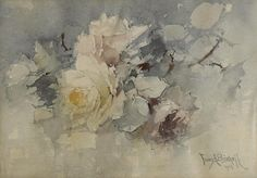 Franz Arthur Bischoff (American, 1864-1929) Yellow and pink roses, 1903 10 x 14in
