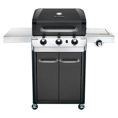 Char-Broil Signature Black and Stainless Steel 3-Burner (24,000-BTU) Liquid Propane Gas Grill with Side Burner