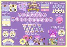 Sofía para imprimir el primer paquete de por HandmadePartyDecor, $20.00