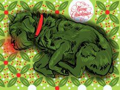 """Archie All A Glow"" #iPadPainting by Susan Murtaugh - Merry Christmas #MobileDigitalArt"
