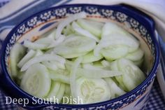 Iced Refrigerator Cucumber Salad - A tart and crisp cucumber salad. Side Recipes, Vegetable Recipes, Southern Tomato Pie, Seven Layer Salad, Green Beans With Bacon, Deep South Dish, Cooking Recipes, Healthy Recipes, Cucumber Salad
