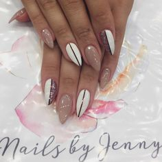 "fancyacrylicnails: ""By @jennydang96: Im so in love emwith this set  #sydneynailart #nailart #nails #naildesign #acrylicnails #perfection #nailsonfleek #amazing #beauty #glitternails #nudenails #nailswag #nailstagram #pointynails #obbsessed #nailporn..."