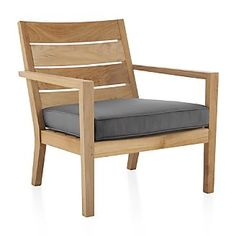 Regatta Lounge Chair with Sunbrella ® Cushion - $485 - FSC teak - 24Wx24.25Dx33.75 H