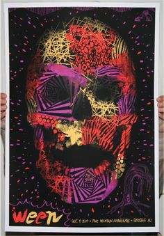 Ween - silkscreen concert poster (click image for more detail) Artist: Todd Slater Venue: Pine Mountain Amphitheatre Location: Flagstaff, AZ Concert Date: Screen Print Poster, Poster On, Poster Prints, Art Prints, Rock Posters, Concert Posters, Band Posters, Vintage Music Posters, Flagstaff Arizona