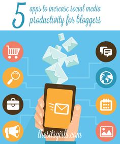 5 apps that help bloggers save time and be more productive on social media.
