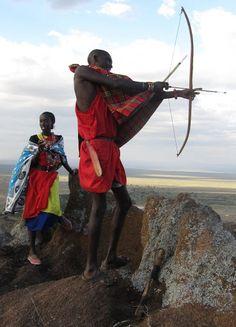 Massai man and woman, Maasai Mara (@Brimstone Dreams)