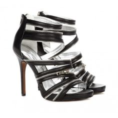 AWESOME Sexy  Zipper Heels Sole Society Shoes - Open toe sandals - Makenna #zipper #heels
