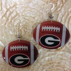 Licensed Collegiate Football Earrings  Univ of by AnnPedenJewelry, $14.99