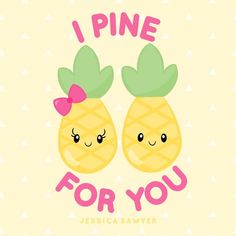 So cute for summer! Kawaii Fruit, Pineapple Clipart, Valentines Puns, Summer Clipart, Crisp Image, Kawaii Drawings, Tropical Flowers, As You Like, Easy Pencil Drawings