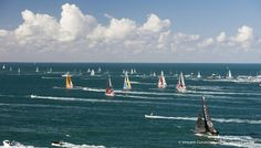 Fleet at start of the Vendee Globe, in Les Sables d'Olonne, France, on November 6th, 2016 - Photo Vincent Curutchet / DPPI Flotte au départ du Vendée Globe, aux Sables d'Olonne le 6 Novembre 2016 - Photo Vincent Curutchet / DPPI