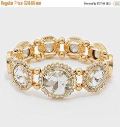 Evening Bracelet -wedding jewelry-evenning jewelry-wedding gold bracelet - clear accents bracelet -blue brides