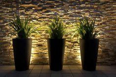 Canning Vale Residence — Landscape design by Mondo Landscapes - Gardening Zones - Modern Landscape Lighting Design Ideas Bringing Beauty and Security into Homes Modern Landscaping, Outdoor Landscaping, Outdoor Gardens, Landscaping Ideas, Patio Ideas, Backyard Ideas, Patio Lighting, Exterior Lighting, Lighting Ideas