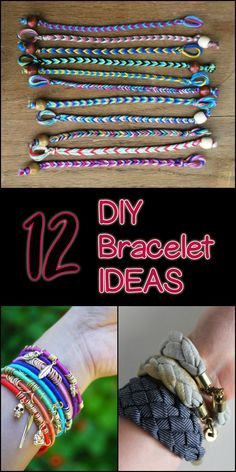 If you're looking for bracelet ideas, here are some tutorials that you might want to try...