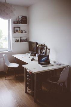 Comment organiser un bureau (meuble) pour deux personnes ? - Forums divers