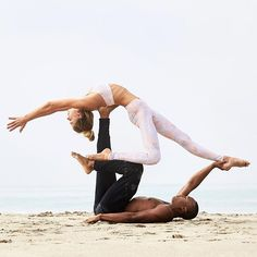 Spend time with the souls that resemble you. @SjanaElise is featured in the Goddess Bra & Airbrush Legging. @Andrew7Sealy is featured in the Relaxed Sweatpant. #aloyoga #beagoddess