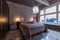 What a cosy loft-bedroom.   Myytävät asunnot, Uudenmaankatu 33, Helsinki #oikotieasunnot #makuuhuone #bedroom #loft