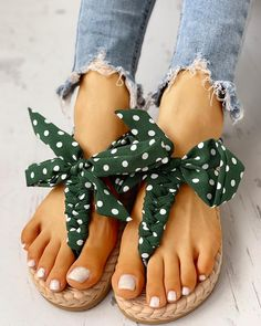 Floral Print Knotted Toe Ring Casual Sandals Women's Online Shopping Offering Huge Discounts on Dresses, Lingerie , Jumpsuits , Swimwear, Tops and More. Sandals Outfit, Cute Sandals, Cute Shoes, Dress Shoes, Casual Rings, Ring Set, Toe Rings, Belly Rings, Womens Slippers