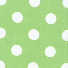 Polka Dot   Lime Indoor/Outdoor Fabric Kitchen Curtains Perhaps?