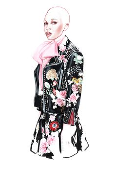 GUCCI fashion illustration by António Soares