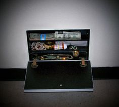 A hidden safe behind a fake wall vent. Great idea, and you can make your own instead of buying it.