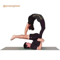 We've all been there: You just don't feel like going to the gym, but you still want to work Group Yoga Poses, Couples Yoga Poses, Yoga Poses For Two, Fit Couples, Yoga Poses For Beginners, Gymnastics Moves, Acrobatic Gymnastics, Acro Dance, Dance Poses