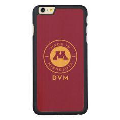 #gold - #College Of Veterinary Medicine | Gold DVM Logo Carved® Maple iPhone 6 Plus Slim Case