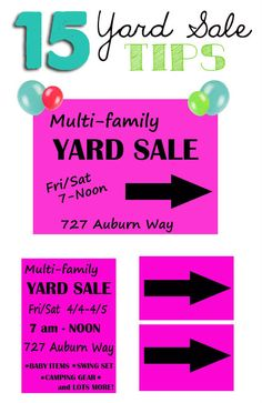 15 tips to help you have a successful yard sale! Perfect timing for all that spring cleaning!!