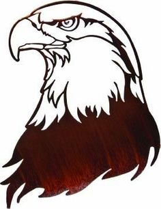American Bald Eagle Profile Metal Wall Art Hanging