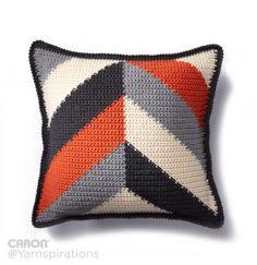 Bold Angles Crochet Pillow - Patterns | Yarnspirations