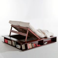 a book should always be close at hand  Storage Lift Bed by Presto