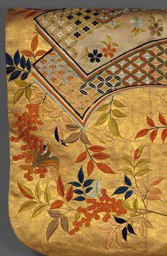 Noh costume (nuihaku) with books and nandina branches [Japan] (1989.367) | Heilbrunn Timeline of Art History | The Metropolitan Museum of Art