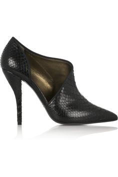 LANVIN Leather-trimmed python ankle boots £654.50 http://www.theoutnet.com/products/455902