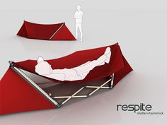Tent + Hammock + Backpack = The Respite Shelter Hammock. Brilliant!