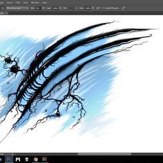 Made some progress on this weird design tonight :) . . . .  #digitalart #art #artwork #creative #creativity #photoshop #illustration #dark #creepy #strange #artist #abstracted #abstract #abstractart #graphic #graphocdesign #abstraction #abstractarts #myart #instaart #artsy