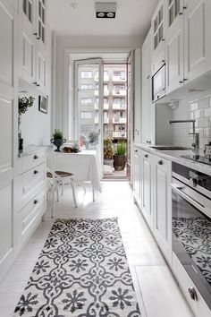 small-kitchen-design Ways To Decorate A small kitchen closet ideas made easy All White City Apartment Galley Kitchen All White City Apartment Galley Kitchen small-kitchen-design Ways To Decorate A small kitchen closet ideas made easy White Galley Kitchens, Galley Kitchen Design, Galley Kitchen Remodel, New Kitchen, Cool Kitchens, Country Kitchen, Kitchen Remodeling, Small Kitchens, Kitchen Small
